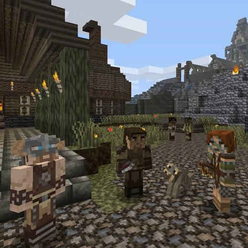 Minecraft Skyrim Mashup Pack