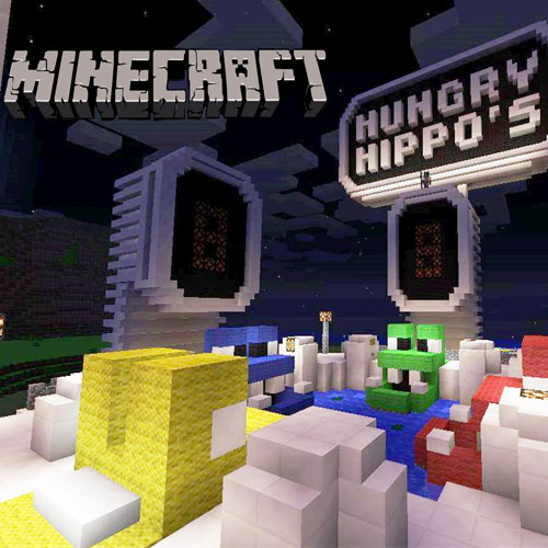 Minecraft Hungry Hungry Hippos