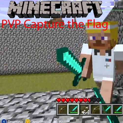 Minecraft Capture the Flgag Cobblestone Arena