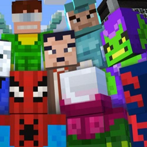 Minecraft Spiderman Skin Pack