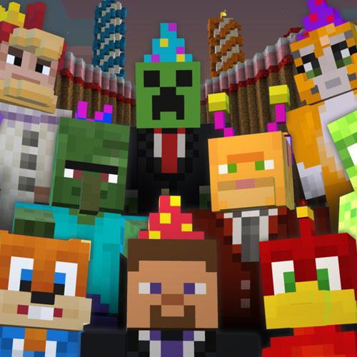 Minecraft Birthday 2, 2014 Skin Pack