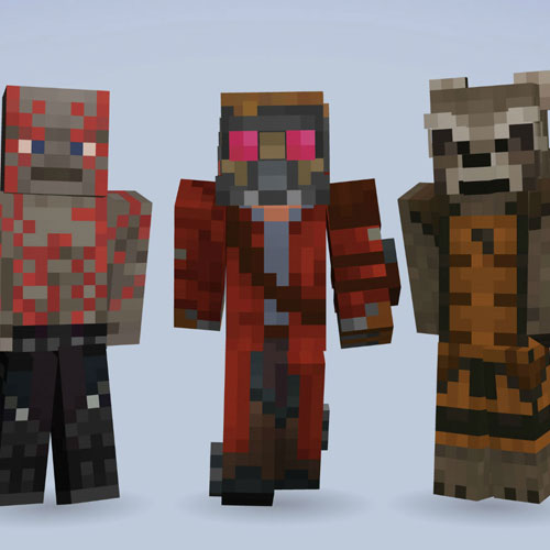Minecraft Guardians of the Galaxy Skin Pack