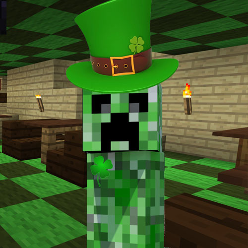 Minecraft Pocket Edition St Patricks