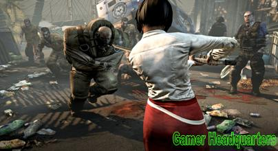 Dead Island Girl Against Insane Suited Zombie