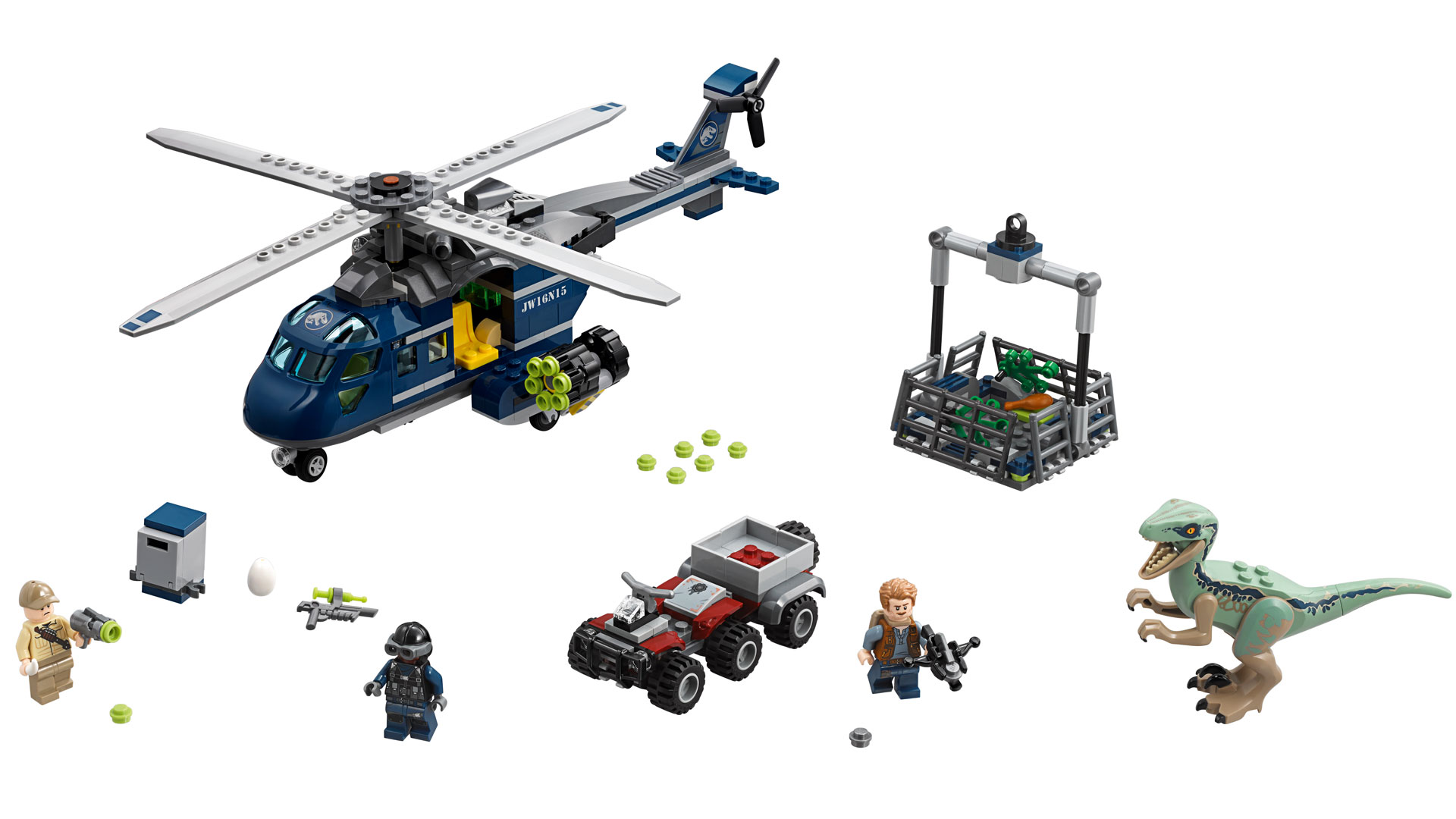LEGO Jurassic World Set 75928 Blue's Helicopter Pursuit at Toy Fair 2018