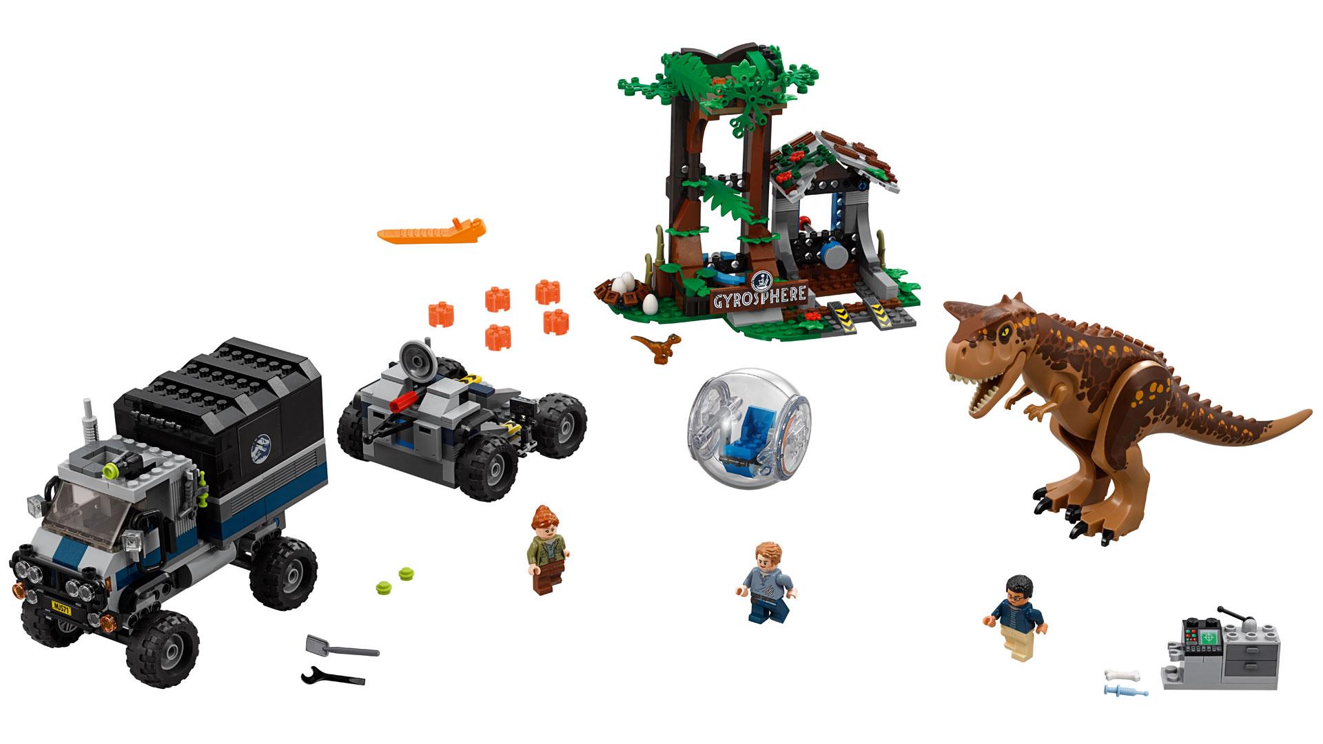 LEGO Jurassic World Set 75927 Carnotaurus Gyrosphere Escape at Toy Fair 2018