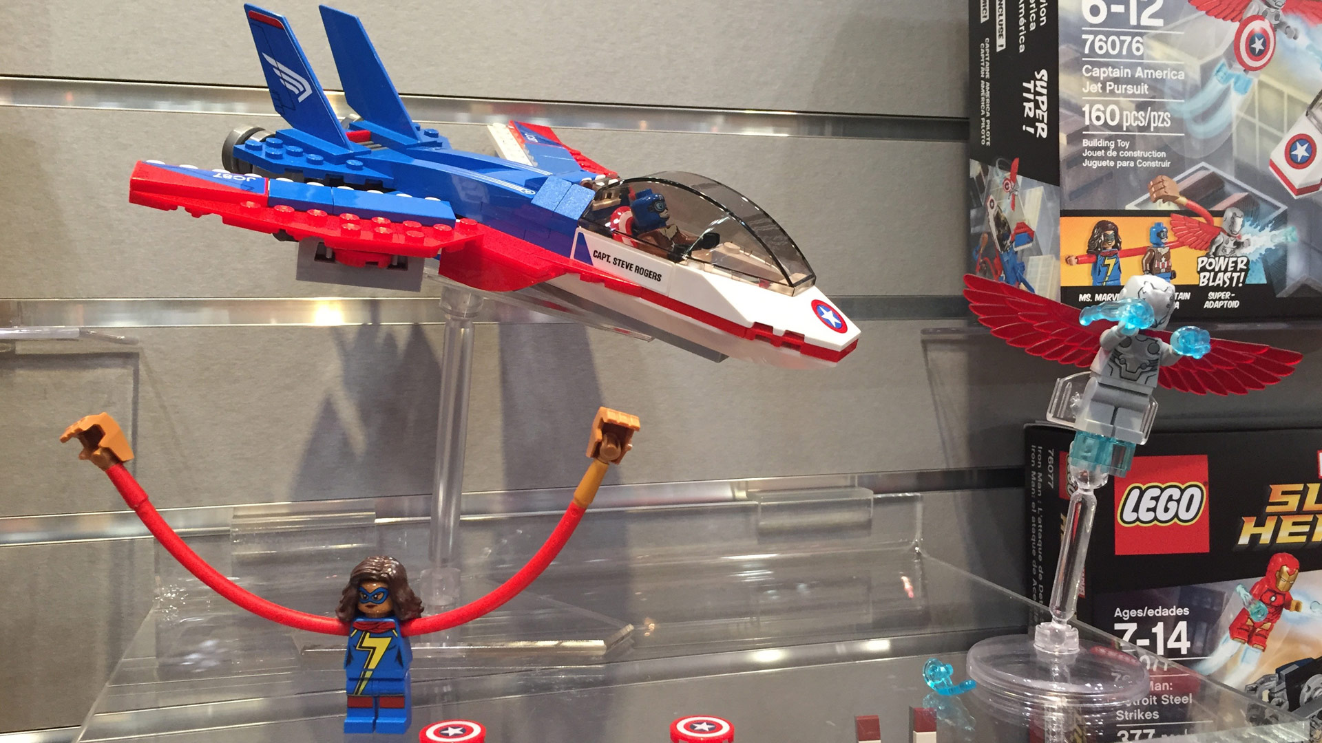 LEGO Marvel Super Heroes Set 76076 Captain America Jet Pursuit at Toy Fair 2017