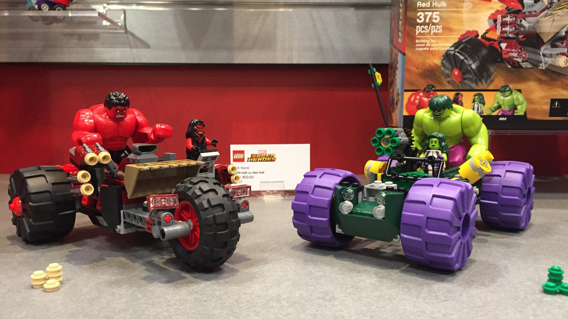 LEGO Marvel Super Heroes Set 76078 Hulk vs Red Hulk at Toy Fair 2017