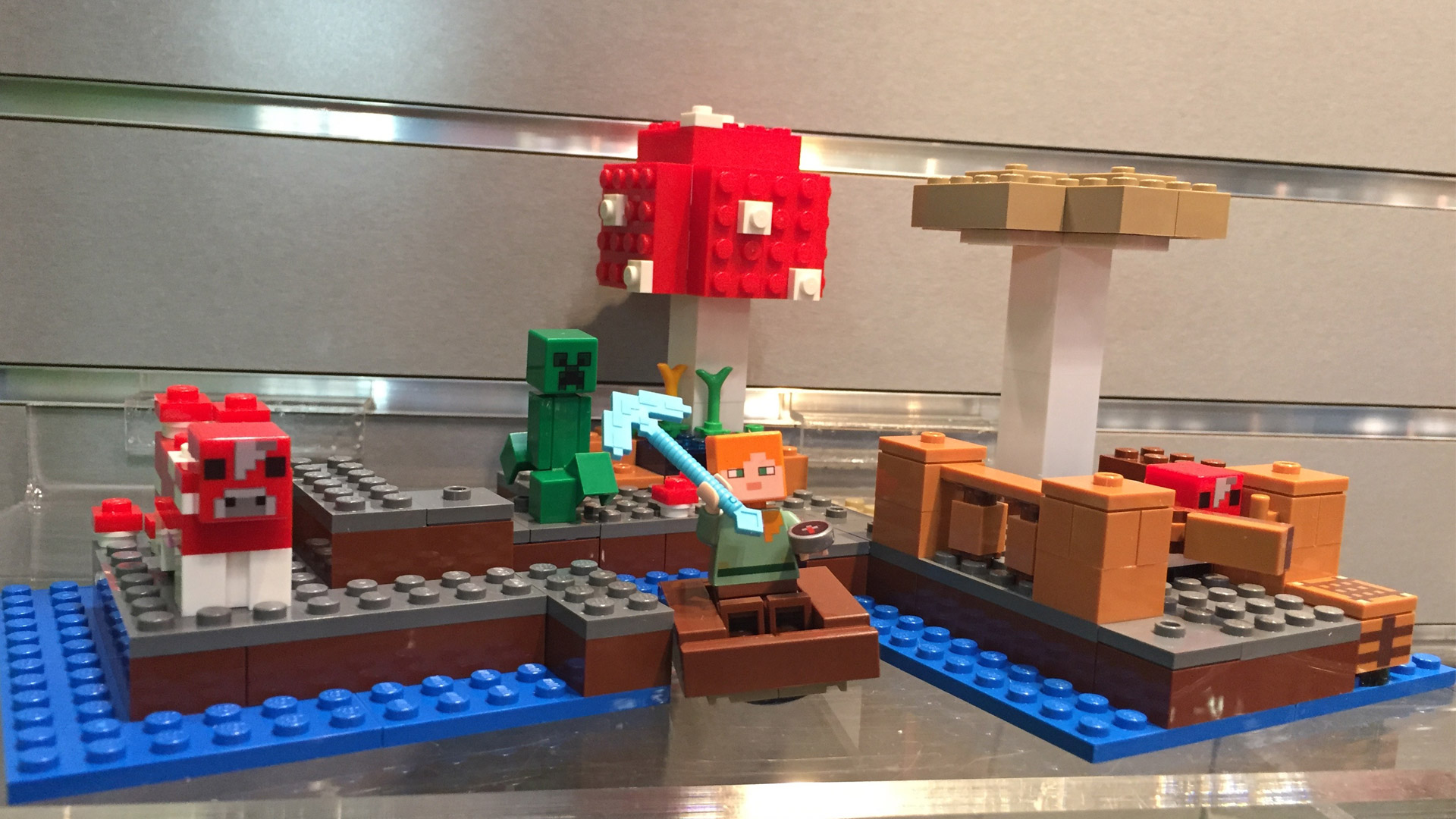 LEGO Minecraft Set 21129 The Mushroom Island at Toy Fair 2017