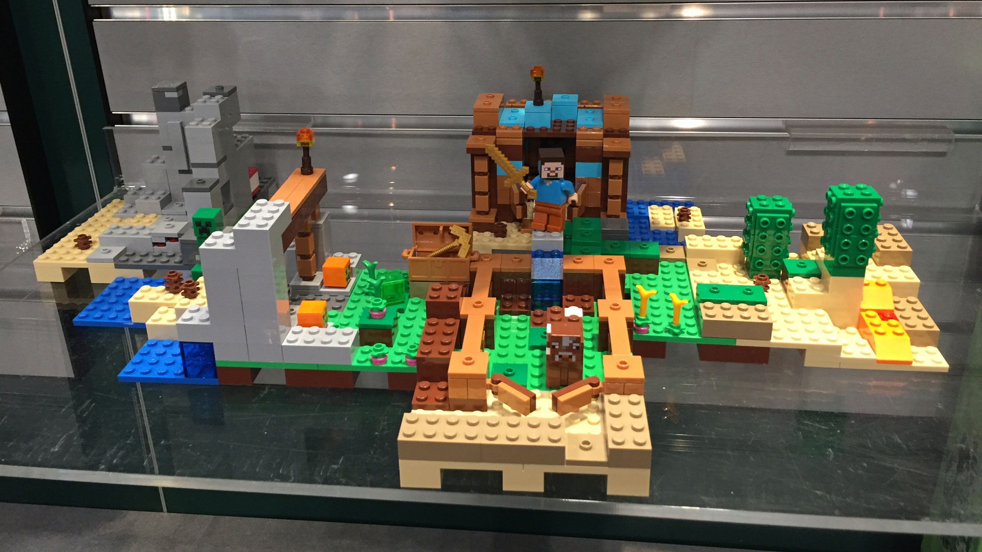 LEGO Minecraft Set 21134 The Waterfall Base at Toy Fair 2017