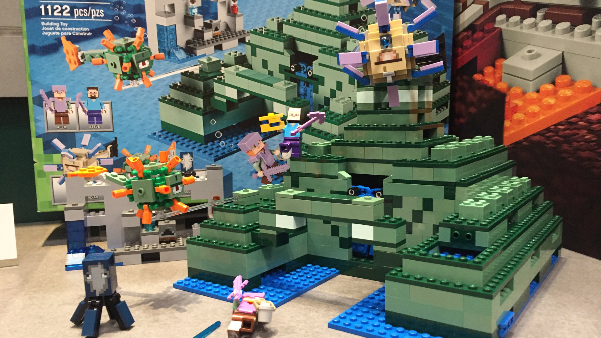 LEGO Minecraft Set 21136 The Ocean Monument at Toy Fair 2017