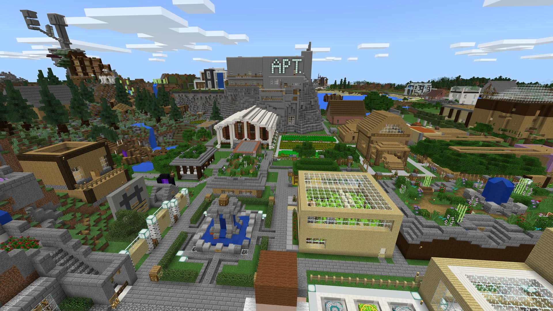 Minecraft Realm Skyland Online Screenshot