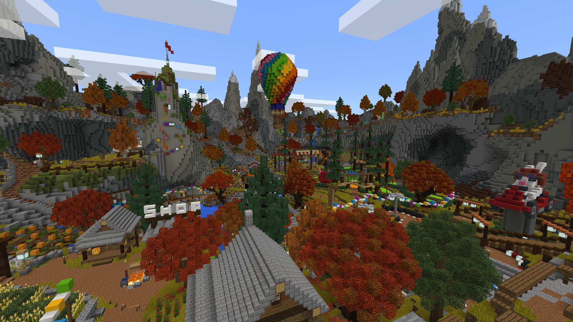 Minecraft Autumn Mini Game Festival