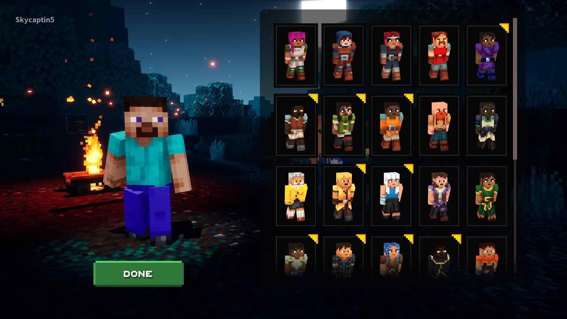 Minecraft Dungeons Skins List 1