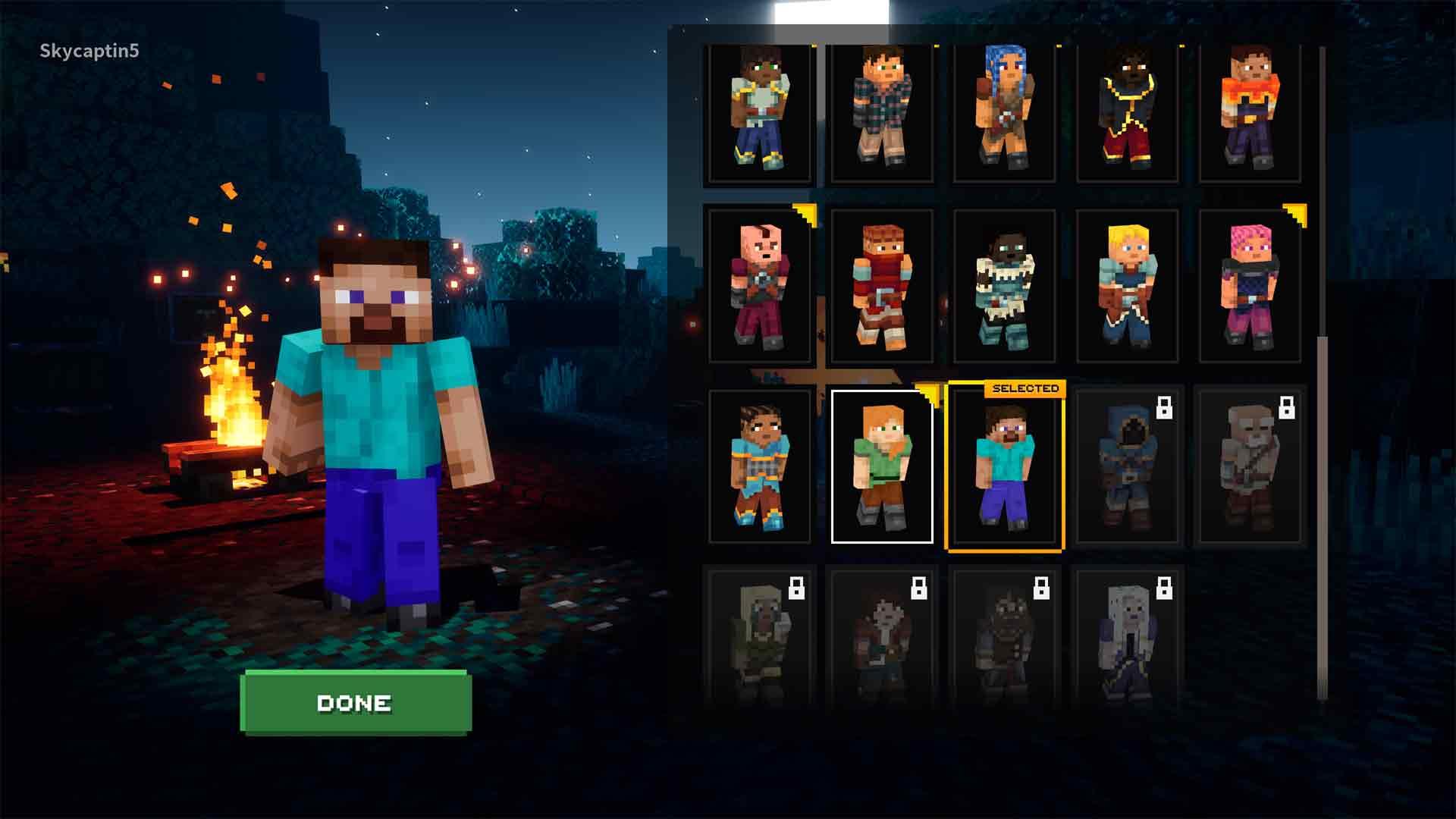 Minecraft Dungeons Skins List 2