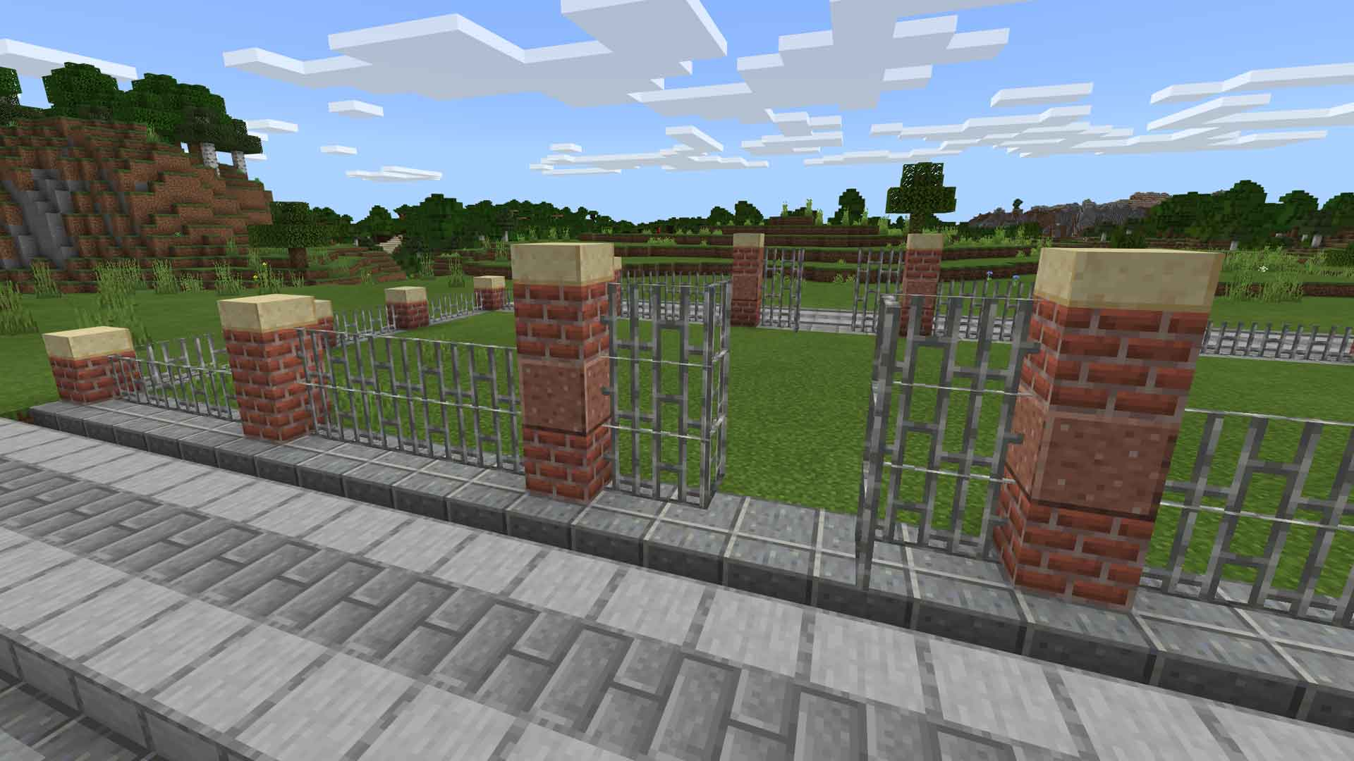 Minecraft Fancy Brick Fence Guide - Gamerheadquarters