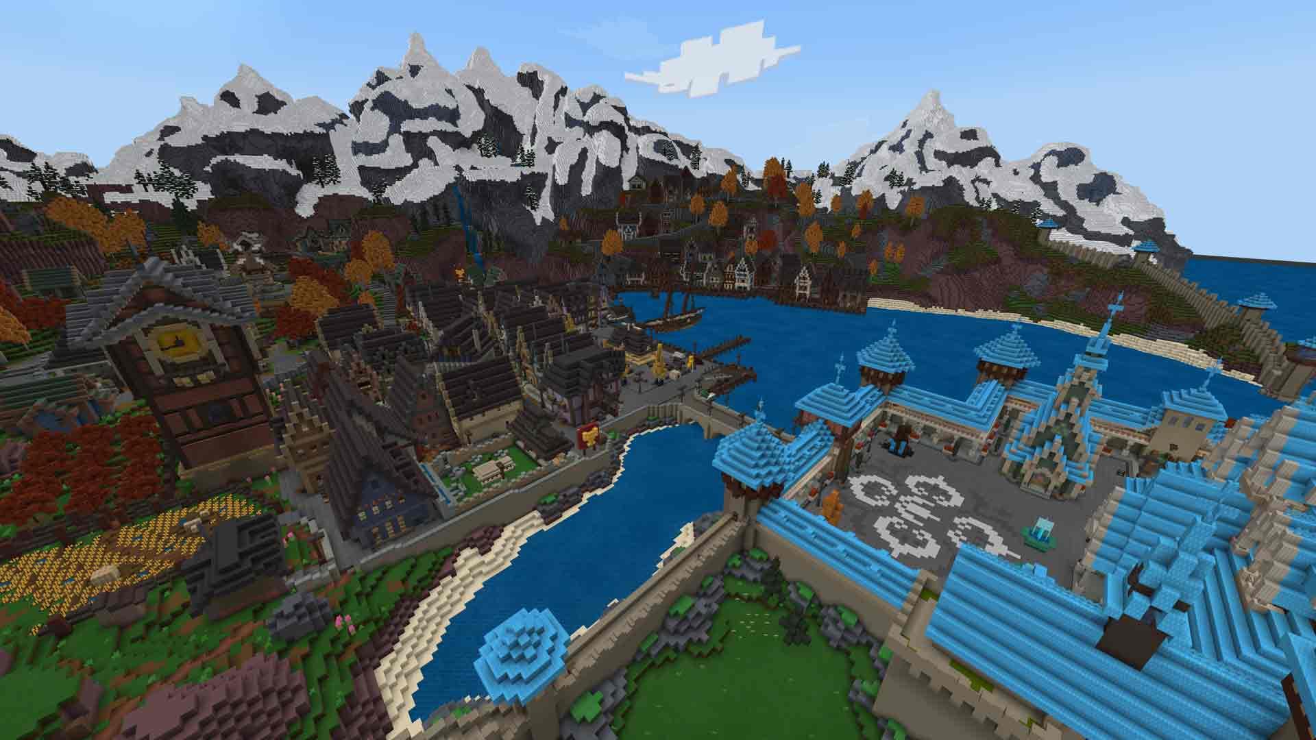 Frozen Minecraft World
