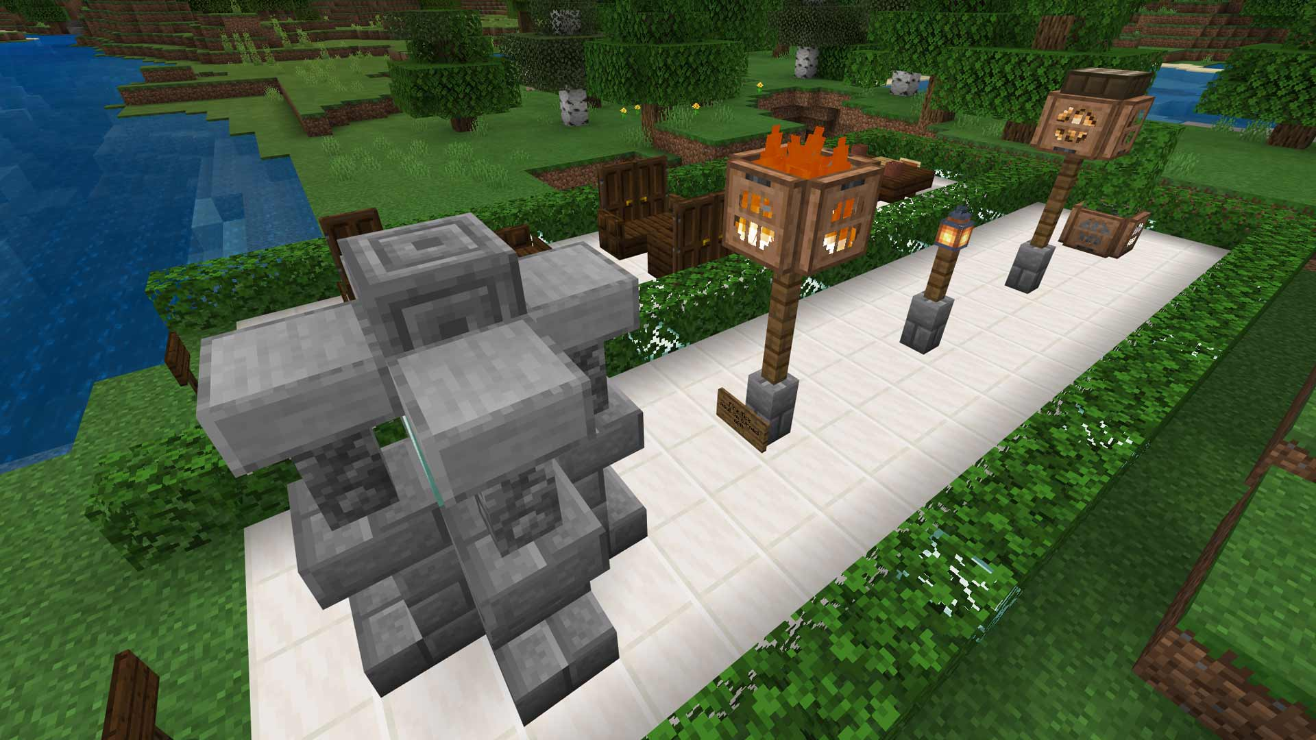 Minecraft Advanced Lamp Post Design Ideas & Simple Guide