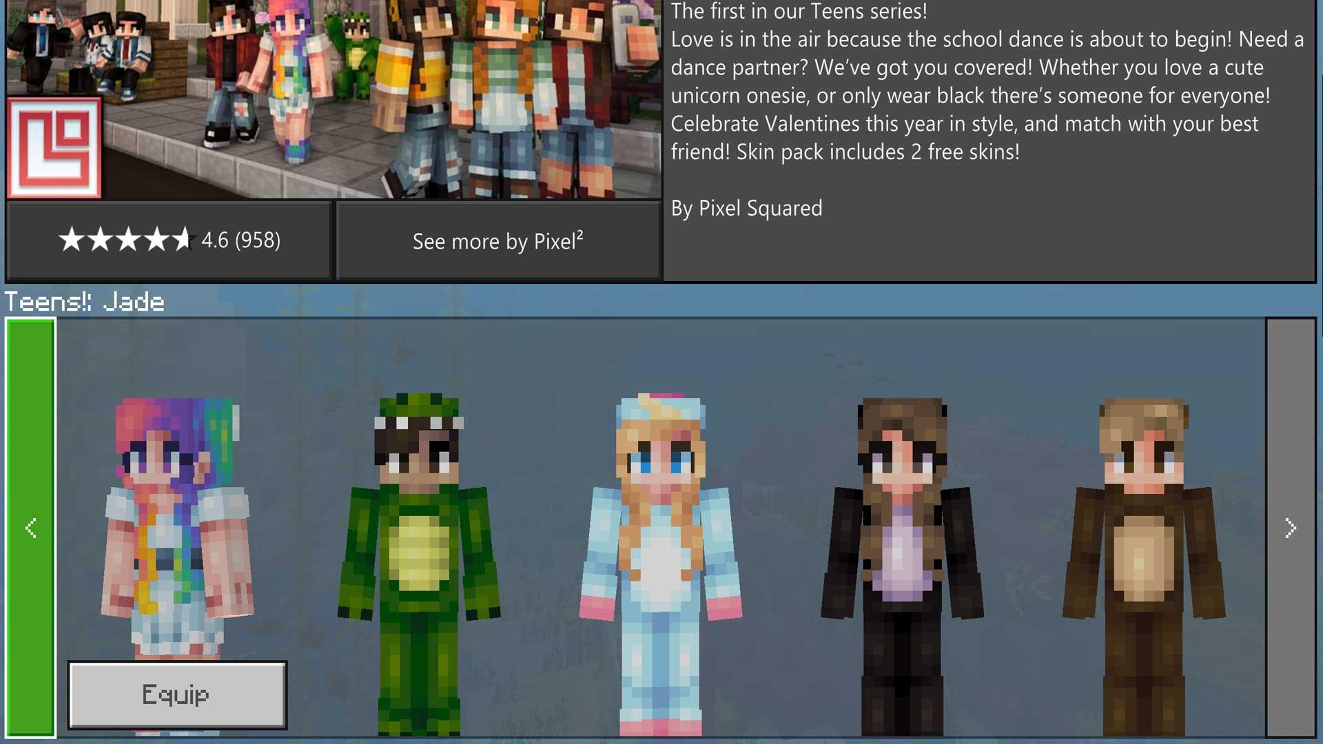 Minecraft Teens! Skin Pack Review - Gamerheadquarters