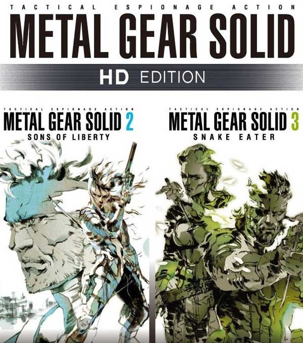 Metal Gear Solid 2 and 3 HD Box Art
