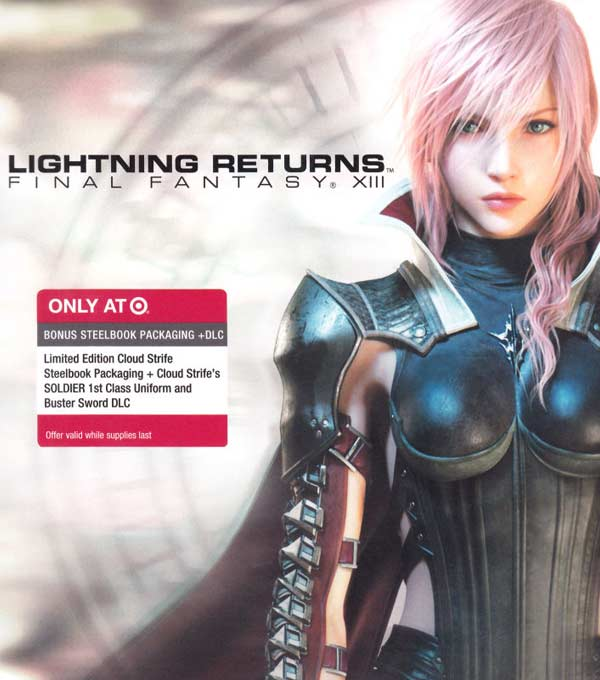 Final Fantasy XIII Lightning Returns Box Art