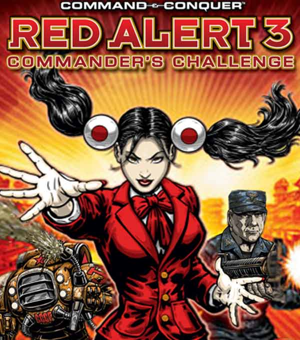 Command and Conquer Red Alert 3 Commander's Challenge Box Art