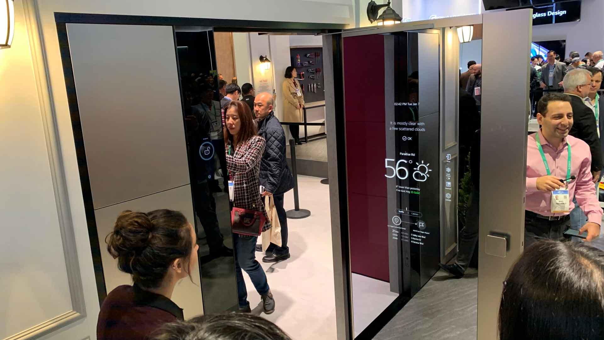 LG Smart Door CES