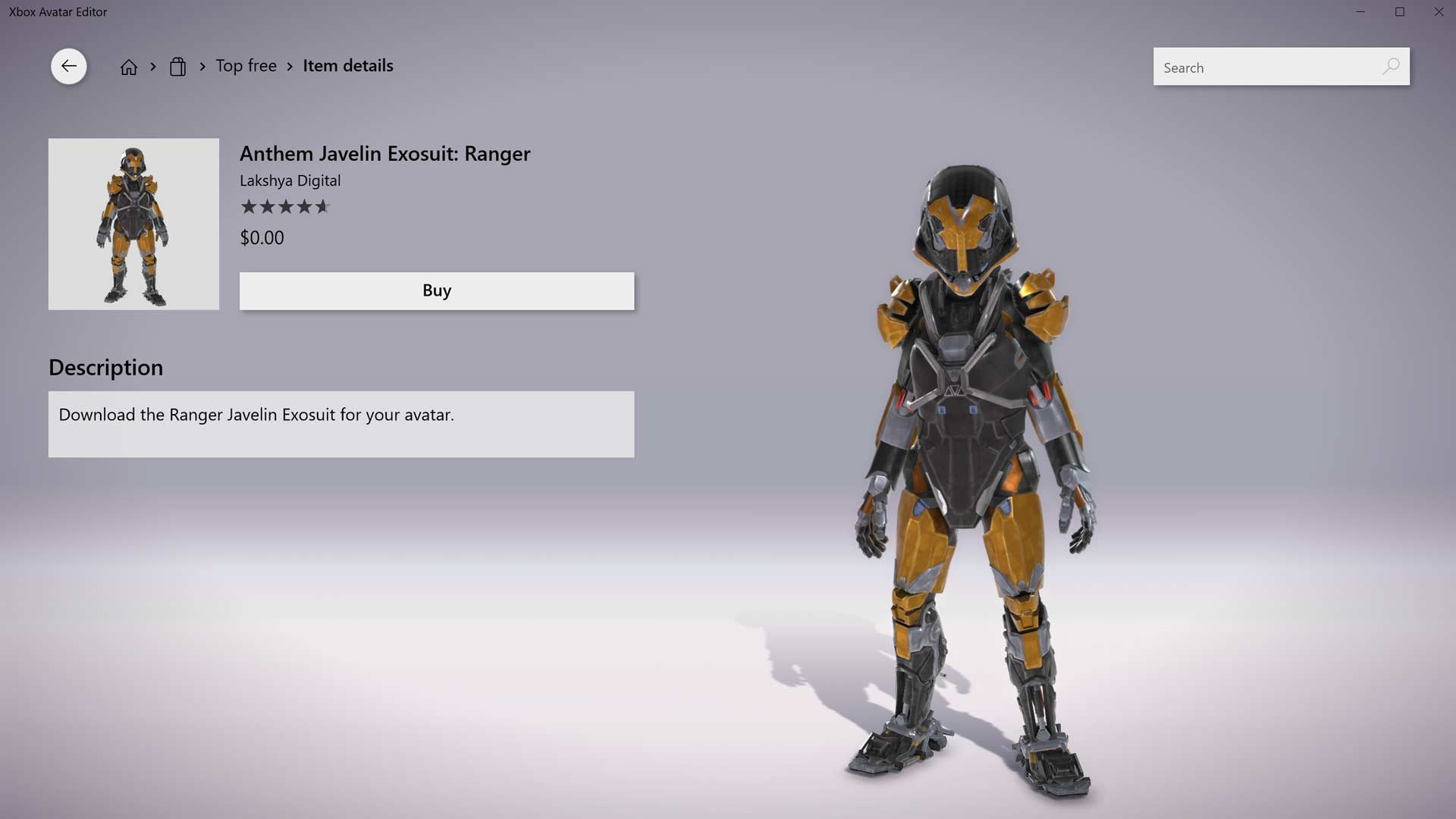 Anthem Javelin Exosuit Ranger Gamerheadquarters