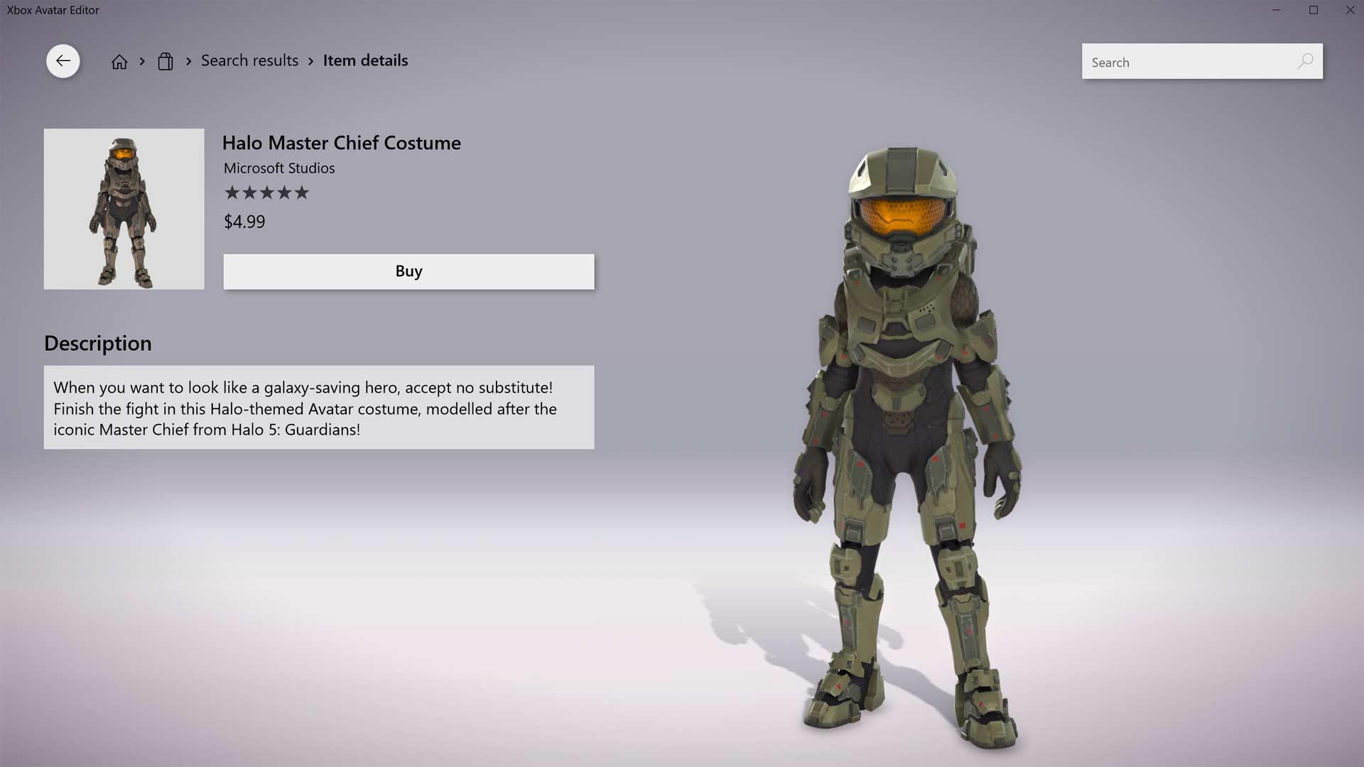 Halo Master Chief Costume Screenshot